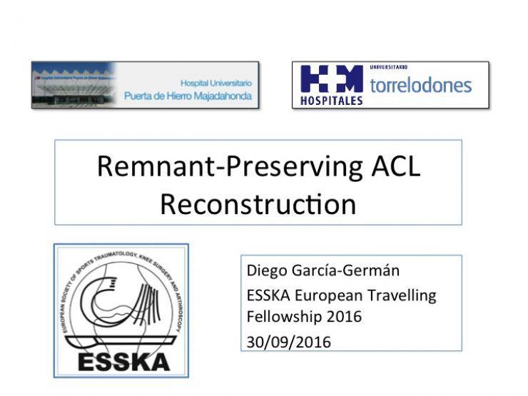 Visita de los Fellows del European Travelling Fellowship de la ESSKA